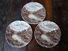 3 Bread & Butter Plates Olde English CountrySide JOHNSON BROS engrave in England