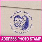 Personalized photo and address self inking rubber stamp Photo stamp Weddings