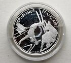 1990 Proof Silver Coin France Olympic Games 100 Francs Free-style Skiing