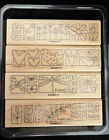 2008 Stampin Up A LITTLE BIT OF HAPPINESS 4 pc RUBBER STAMP SET Butterfly Spring