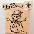 Sketchy Snowman Rubber Stamp Lot Club Scrap Happy Holidays Snowflake Christmas