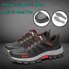 Mens Safety Fashion Shoes Steel Toe Sole Breathable Work Boots Hiking US stock