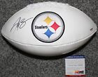 Le'Veon Bell Autographed Signed Pittsburgh Steelers Football PSA DNA COA