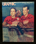 GORDIE HOWE TED LINDSAY Detroit Red Wings NHL AUTOGRAPHED Signed Photo 8x10