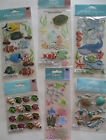 Jolees Boutique Scrapbooking Stickers Lot FISH Turtles Coral Octopus Tropical