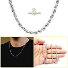 2MM 10K White Gold Diamond Cut Rope Chain Necklace 16 22 Inches