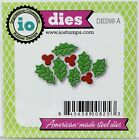 FREE SHIPPING Impression Obsession HOLLY LEAF CLUSTER Die DIE098 A IO Stamps