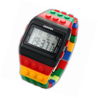 SHHORS Candy Rubber Digital Stopwatch Men's Ladies Sport Watch LED092