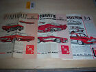 Five AMT and SMP 1961 model car instruction sheets.