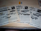 Three AMT and SMP 1960 model car instruction sheets.