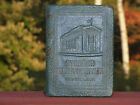 ANTIQUE Vtg 1923 METAL LEATHER COIN BANK BOOK STEUBEN County TRUST CO HORNELL NY