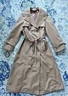 Vintage Camel One of the kind Jean Nicole Tan Trench Coat Tie Belt Size Small