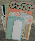 Stampin Up SWEET SORBET dsp PAPER CARD KIT Embossed Tags Bling Flowers+