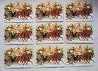 9 New Winter Scene Sleigh Horses Punch Studio Note Cards Victorian Ephemera