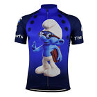 THE SMURFS Cycling Jersey Retro Road Pro Clothing MTB Short Sleeve Bike Racing