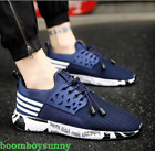 Mens Breathable Casual Running Sports Flats Canvas Loafer Sneakers Shoes