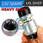 12 Volt DC Heavy Duty Momentary Push Button Starter Switch 50 Amps
