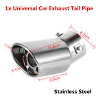 Stainless Steel 61mm Bent Muffler Pipe Auto Car Rear Round Exhaust End Pipe Tip