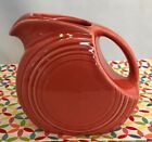 Fiestaware Persimmon Juice Pitcher Retired Fiesta Orange Small Pitcher