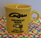 Fiestaware Advertising Mug Sunflower Quinn Chevrolet Lisbon OH Ring Handled