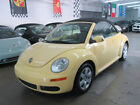 2007 Volkswagen Beetle New 2dr Automatic 67000 MILES FLORIDA 2 OWNER CLEAN CARFAX NONSMOKER YELLOW BLACK LEATHTER AND TOP