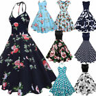 50s 60s Vintage Style ROCKABILLY DRESS Swing Pinup Retro Housewife Party Dress