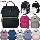 US LAND Multifunctional Baby Diaper Nappy Backpack Waterproof Large Changing Bag
