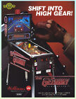 GETAWAY 1992 Williams Pinball Advertising Flyer