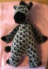 Jellycat Grey Gray Black Spotted Zebra Giraffe Plush Stuffed Animal Toy