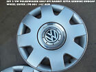 SET 2 VW VOLKSWAGEN GOLFGTI RABBIT JETTA GENUINE HUBCAP  WHEEL COVER 1T0 601 147