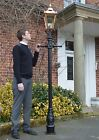 USED Ex Display 23m Copper and Black Victorian Lamp Post and Lantern Garden Set