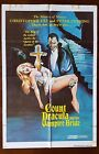 COUNT DRACULA  HIS VAMPIRE BRIDE 1974 One Sheet Movie Poster Christopher Lee
