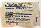 Vintage Disneyland E Ticket Green Coupon Adult Admission F1020280