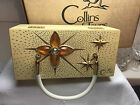 Vintage Enid COLLINS OF TEXAS BOX BAG Wooden Jeweled Purse with Original BOX