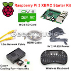 Raspberry Pi 3 XBMC KODI OSMC Media Center Kit RF Remote Case HDMI 16GB SD Card