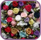 100 Satin Ribbon Rose Flower 1 2 Applique Sewing Bow Craft Mix Color 207A 3