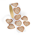 100 GOLD HEART WEDDING THANK YOU CARD SEAL LABEL FAVOR TAG BAG STICKERS ROLL