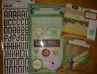 Crate Paper Close Knit scrapbook lot 6x6 thickers embellishments
