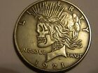 1921 22 Peace Dollar Two Face Coin Hobo Nickel  NR No Reserve