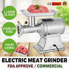 1.5HP 1100W Commercial Meat Grinder Sausage Stuffer heavy duty 2 Knives Kitchen