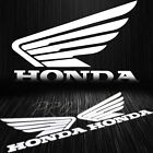 Fuel Gas Tank Fender Decal Reflective Wing Logo Vinyl Sticker for Honda White