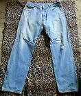 70s 80s Vintage LEVIS 501 Hige Fade Denim Jeans 35 x 33 Made In USA 501xx