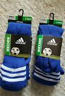 NEW ADIDAS 2 Pair Soccer Compression Climalite Socks Blue Youth Size XS S M NWT