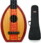 Magic Fluke Co Flea Designer Surf Soprano Ukulele w Gig Bag