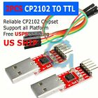 CP2102 USB 20 to UART TTL 6PIN Module Serial Converter Adapter Red+Silver TS