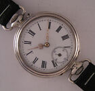 Early Cylindre '1900 Antique Swiss SILVER ENGRAVED Wrist Watch Perfect Serviced