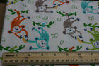 SNUGGLE FLANNEL Buy 1 Give1 Fundraiser Monkey Bananas 100 Cotton NEW BTY
