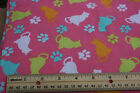 SNUGGLE FLANNEL Buy 1 Give1 Fundraiser Cat Kitten Pink 100 Cotton NEW BTY