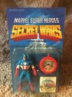 1984 Marvel Secret Wars Captain America Unpunched MOC Action Figure Amazing Cond