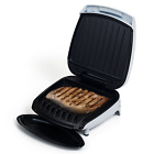 Electric Indoor Grill With Nonstick Plates for Low Fat Healthy Cooking and Grill